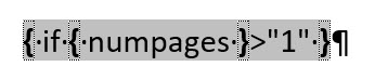 Word – Seiten X vonY