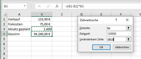 Excel – Rückwärtsrechnen undZielwertsuche