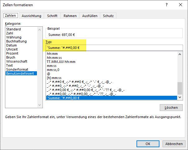 Excel – Text und Zahl mitZahlenformat