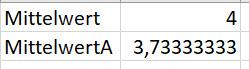 Excel – Durchschnitt