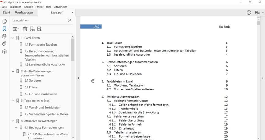 Adobe Acrobat DC – Vorgaben beimÖffnen
