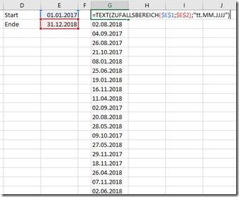 Excel–Zufall für Zahlen, Datum, Buchstaben (2 von3)
