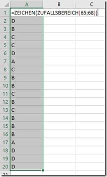 Excel–Zufall für Zahlen, Datum, Buchstaben (3 von3)