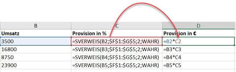 Excel–Mit SVERWEIS rechnen