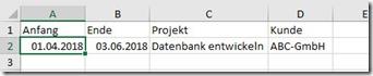 Outlook–Excel-Liste mit Terminenimportieren