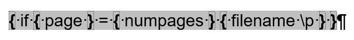 Word – Dateiname und Pfad nur auf letzterSeite