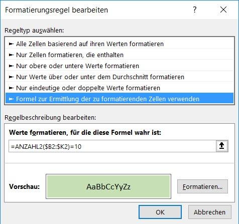 Excel – Allesvollständig?
