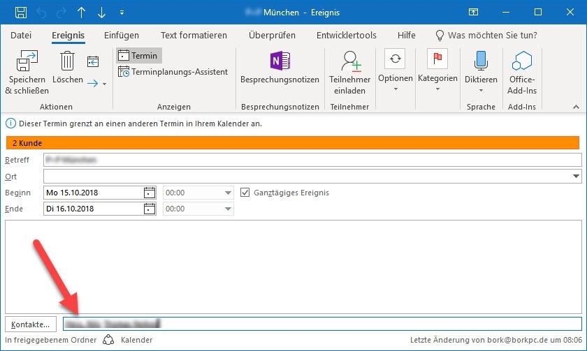 Outlook Kontakte Und Andere Elemente Bork Blog