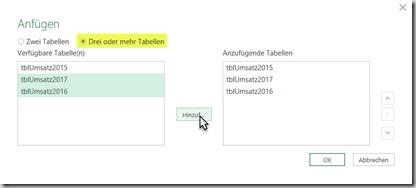 Excel – Pivot aus mehrerenTabellen