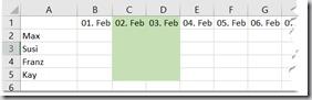 Excel – Bedingte Formatierung fürWochenende
