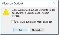 Outlook – Kontakt mit Kategorie