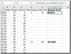 Excel–Bereich ermitteln (Teil1)