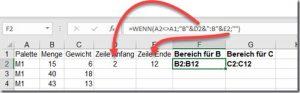 Excel–Bereich ermitteln (Teil2)
