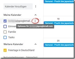 Outlook – Google-Kalender einbinden