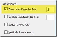 Word – Seriendruckfelder mit Textdavor