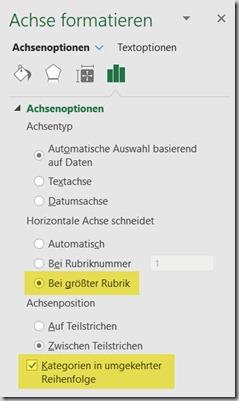 Excel – Balkendiagrammumgedreht