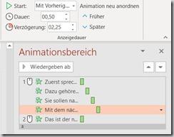 PowerPoint – Text nach Animation grau(2)