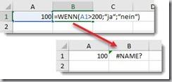 Excel–Gänsefüsschen in Formel