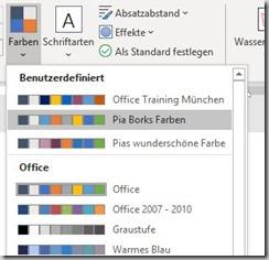 Office–Designfarben anlegen undverteilen