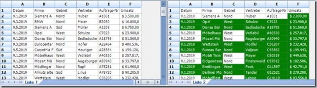 Excel – Spreadsheet compare