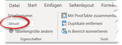 Excel – Rechnen mit formatiertenTabellen