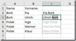 Excel–Automatisch zusammenfügen