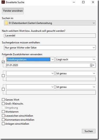 Adobe Acrobat–Ordner durchsuchen