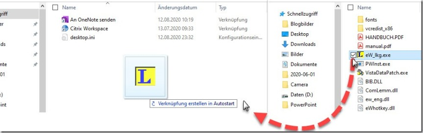 Windows–AutoStart bestücken